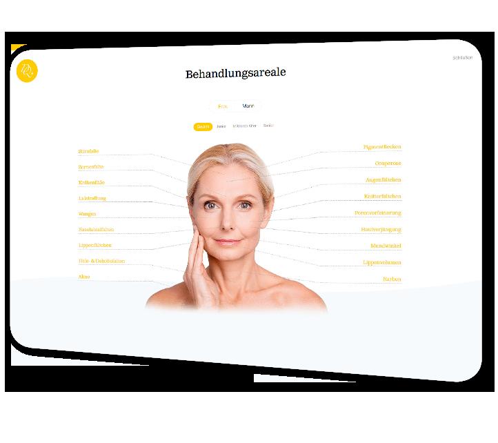 Dermatologie Quist - Behandlungsareale