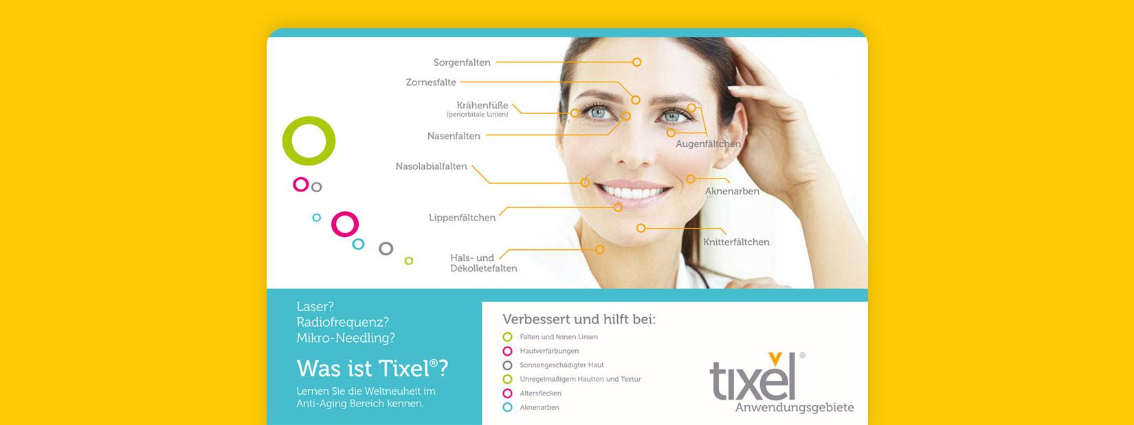 Eine Visualisierung zur Tixel Hautverjüngung.
